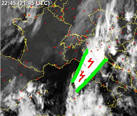 "V-shape satellite Pioggia record ""Novembre 2012"" ""San Giustino"""