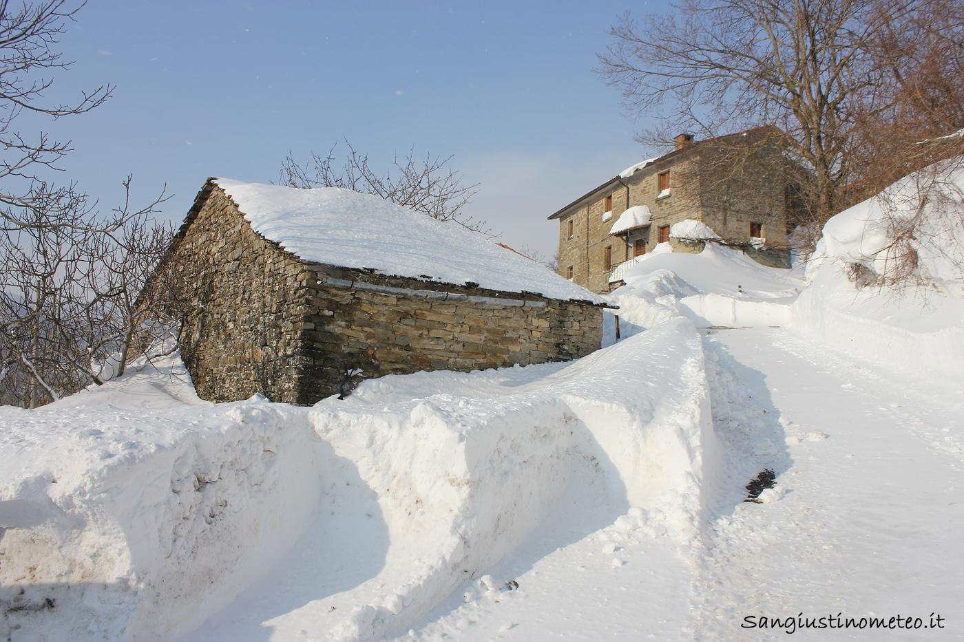 Neve San Giustino Cantone Febbraio 2012 Buran