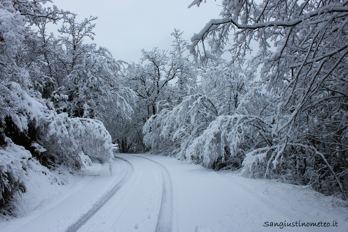 San Giustino meteo neve 06 febbraio 2015