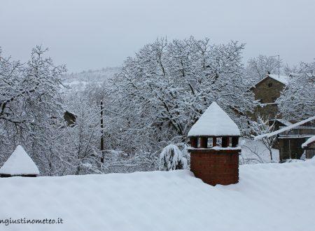 La nevicata di oggi sulle colline sangiustinesi