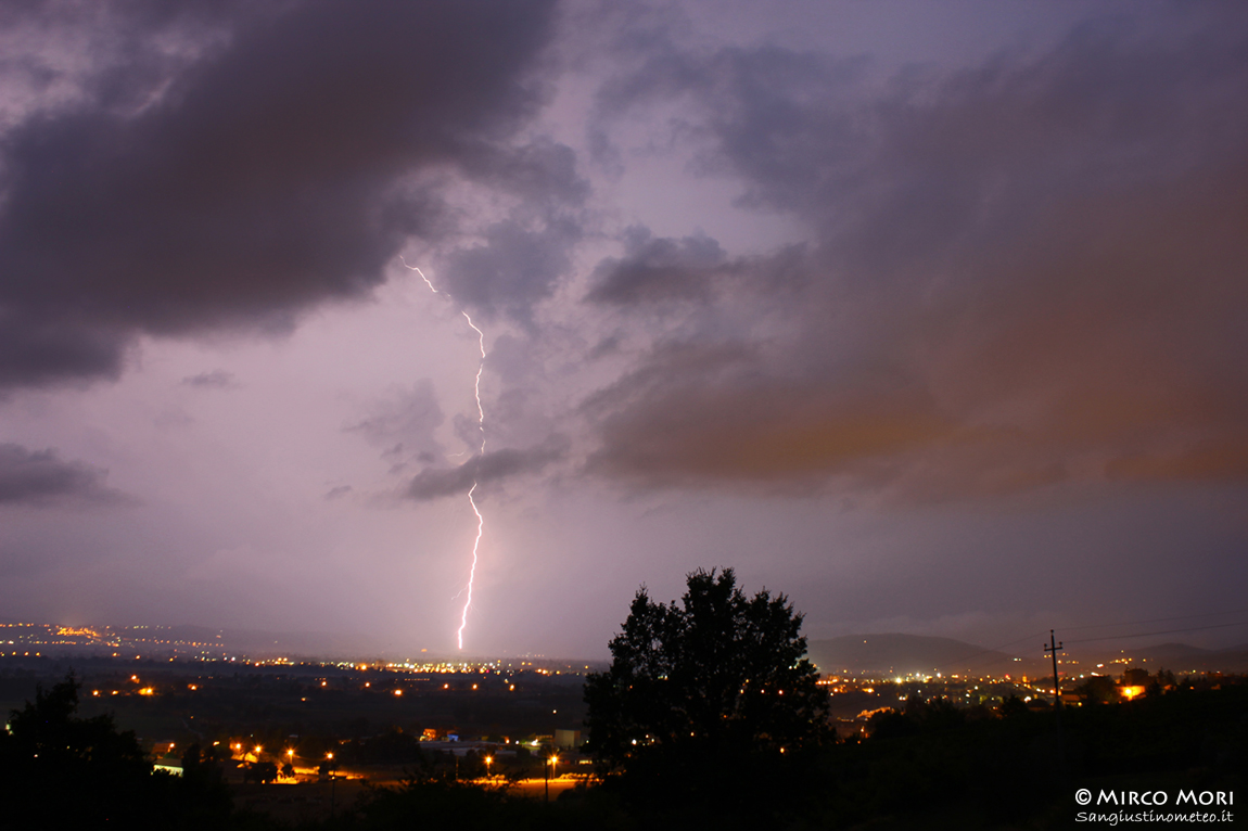 fulmini san giustino meteo temporale