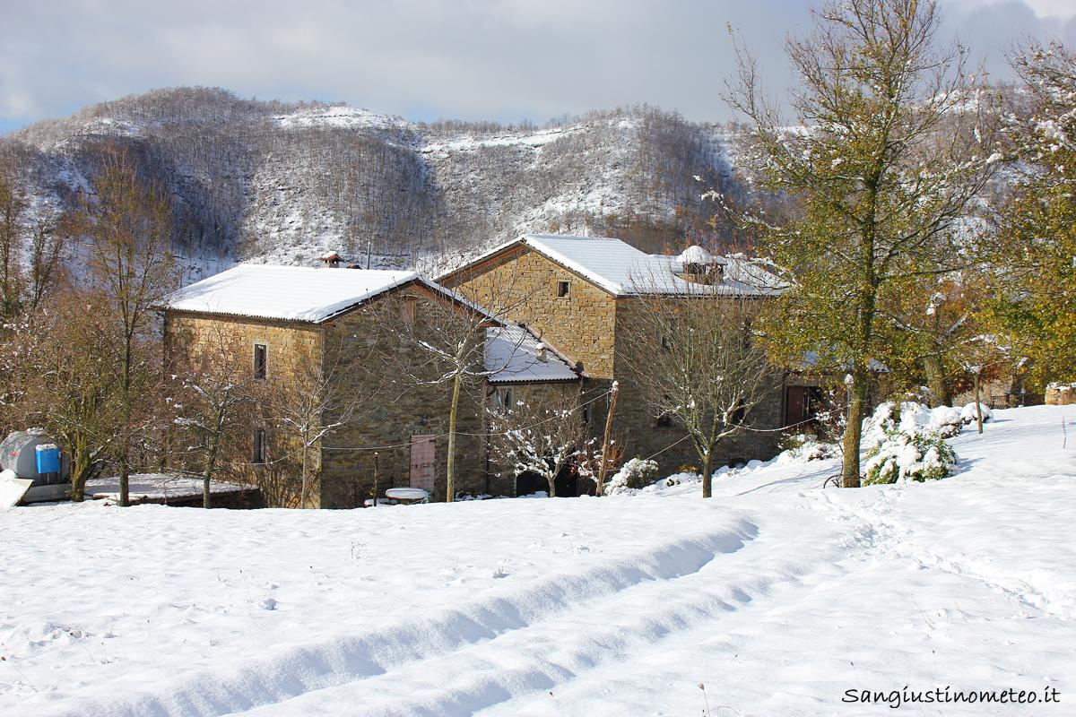 San Giustino meteo neve 22 Novembre 2015 cantone