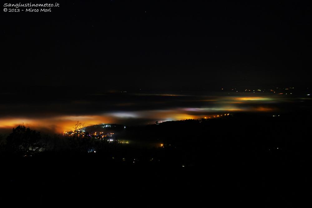 Nebbia luci notte San Giustino Meteo