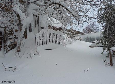 Altri cm caduti in nottata, stanotte ultime deboli nevicate