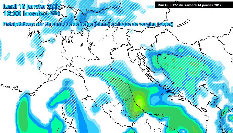 Precipitazioni nel pomeriggio di Lunedì