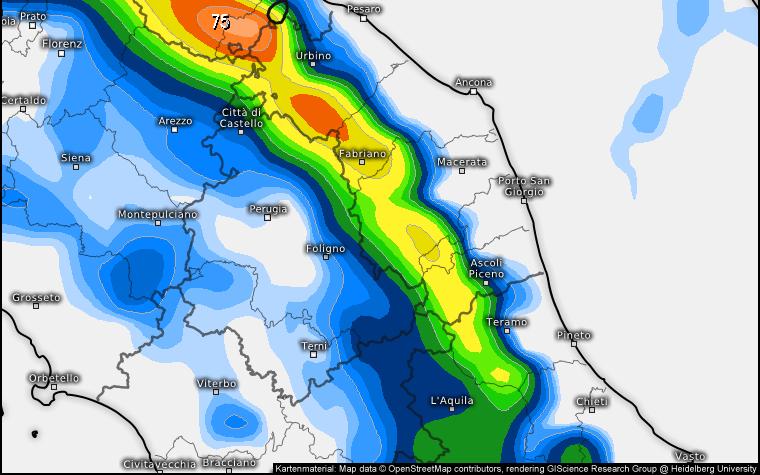 In attesa di capire la traiettoria del Buran, confermate le nevicate collinari in settimana
