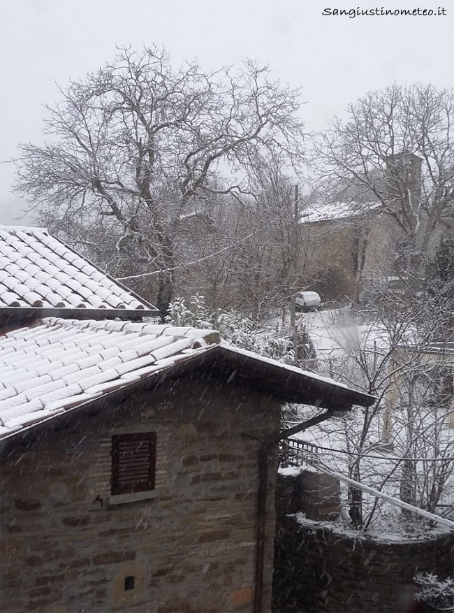 San Gustino meteo neve